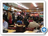 The crowd at Katz's at 2:50 a.m.  Delicious food around the clock!