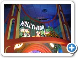 """'it's a small world"" - In Paris, the ride features multiple cities not shown in the classic ride in the States, including this scene devoted to Hollywood."