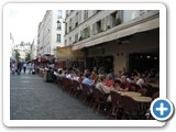 One of the many cafes on Rue Cler.