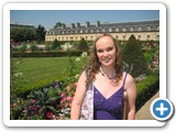 Jennifer posing for a picture in the immaculate gardens of Napoleon's tomb and the Army Museum.